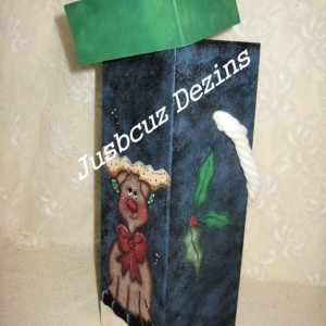 Christmas Wine Box, Reindeer Wine Box, Stash Box, painted Reindeer