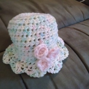 Crocheted Baby Hat Belle and Shell Baby Hat