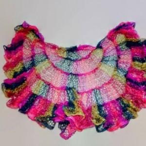 Multicolor Ruffle Capelet