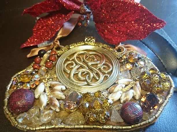 Amber Bib Necklace, Gold Bib Necklace, Vintage Jewelry Necklace