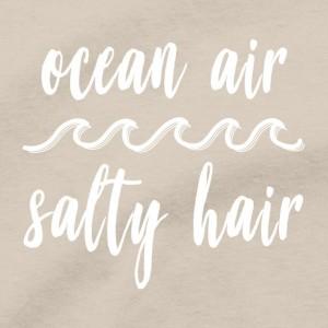 Ocean Air Salty Hair T Shirt, Beach Sand Sun Tan Sunshine Men's Unisex Cotton Tee Shirt
