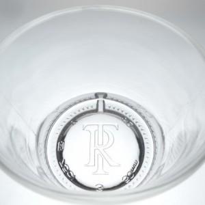 Templeton Rye Whiskey bottle upcycled set (4) rocks glasses