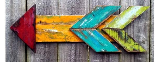 Handmade Rustic Wooden Pallet Arrow