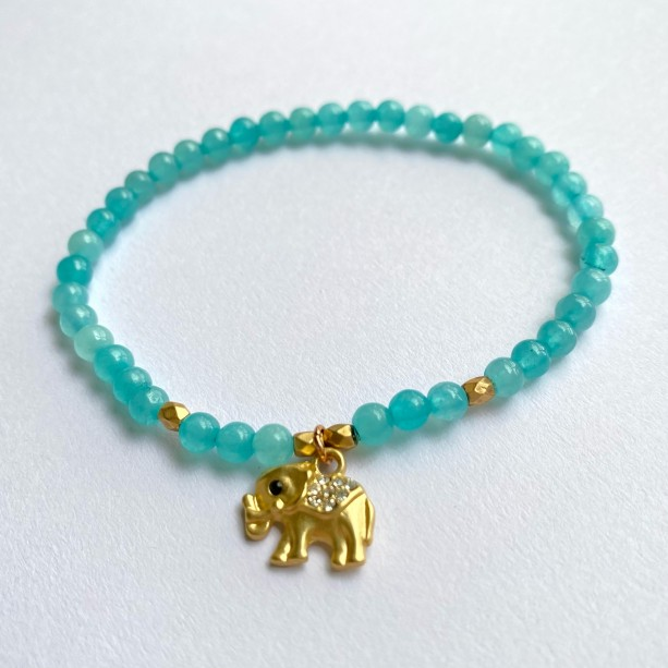 Aqua Elephant Bracelet