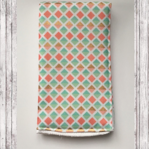 coral and mint  burp cloth set