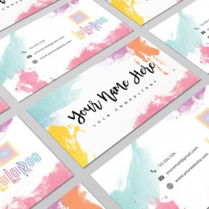Custom Lularoe Business Card Design