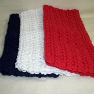 Set of 3 Handmade Crochet Cotton Dish,Wash,Bath Cloths,Dish Rags,8x8,Gifts,Housewarming