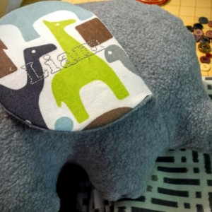 Stuffed Elephant/Plush/Pillow--Medium Size