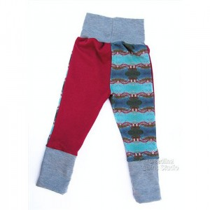 Baby - Toddler - Grow With Me Pants - Custom Print Fabric - Hell Gate Bridge - NYC - Color Block