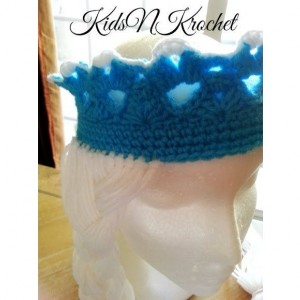Crochet Ice Queen crown with braid. you choose size!