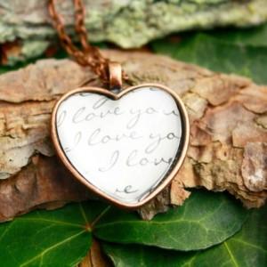 I love you heart pendant