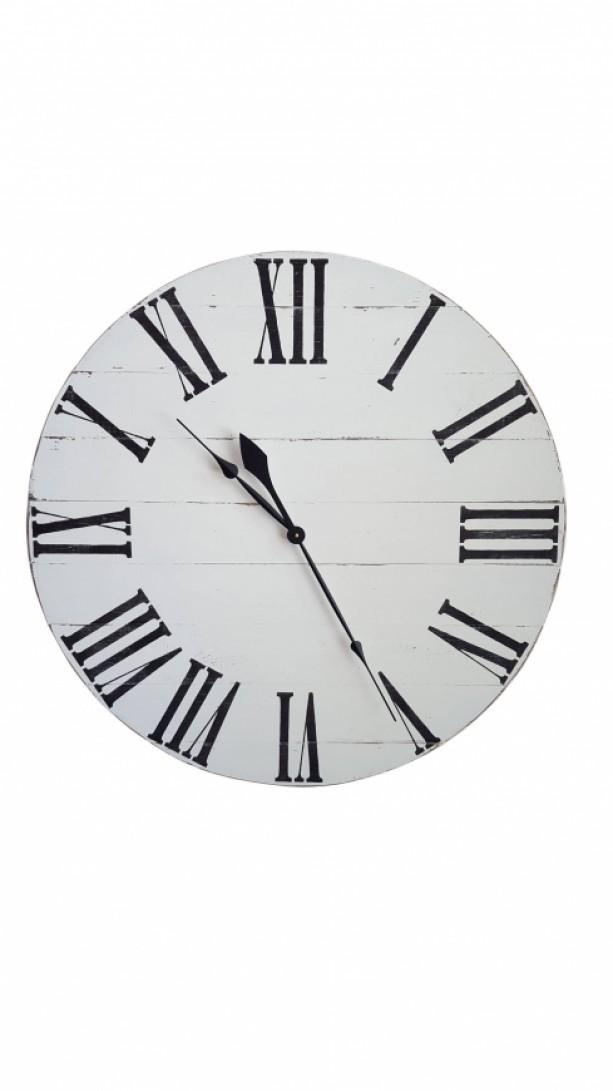 Large Farmhouse clock-Large Roman numeral clock-Farmhouse clock- Antique White clock-Distressed clock-Decorative clock-Wall clock-Wood Clock