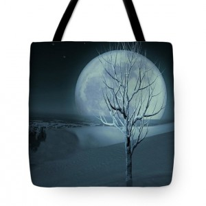 Silent Winter Evening Tote Bag