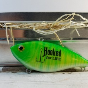 Hooked for Life, a great anniversary gift for a fisherman, birthday gift for him or just because you love them!