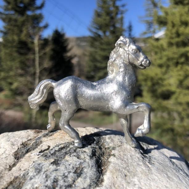 Horse pewter figurine, equine, hand cast