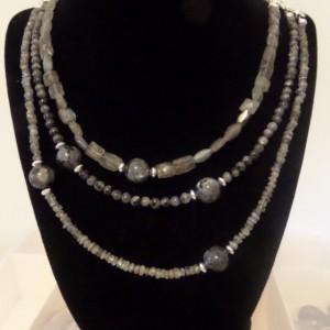 Multi strand Labradorite necklace