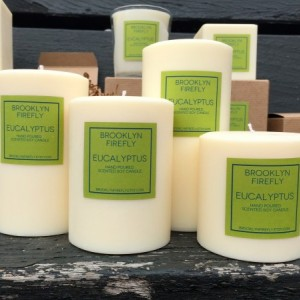 Eucalyptus Candles. FREE SHIPPING. Scented Soy. Set of 4.
