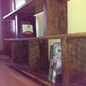 Re-Purposed Wood Bookshelf