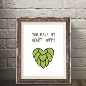 Hoppy Heart Beer Poster