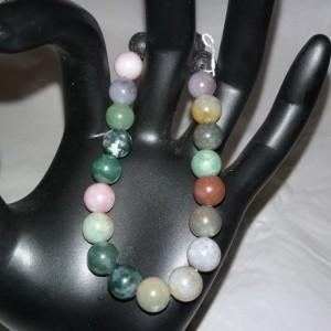 Fancy Jasper Gemstones w/Lava Stone Diffuser Bracelet