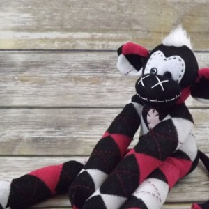 Sock monkey : Kai ~ The original handmade plush animal made by Chiki Monkeys