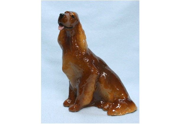 Ron Hevener Collectible Irish Setter Dog Figurine