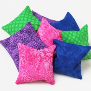 Green, Blue, Purple, & Pink Bean Bags (Set of 8) Educational Sensory Toys Birthday Party Favors (Includes US Shipping)