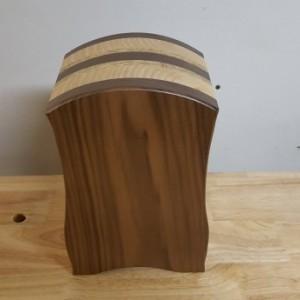 Bandsaw box made from walnut, pine,osb,and buckeye burl
