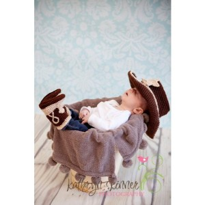 Baby cowboy hat and boots set you pick the colors and size-Made to order