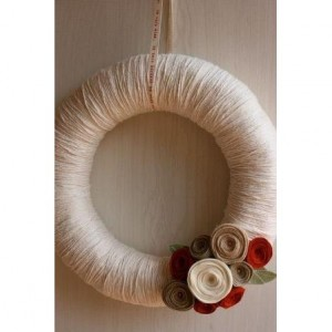 Autumn Harvest Cozy Yarn & Felt Wreath