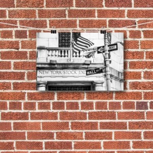 "Finance Art, Wall Street Art, ""Exchange Entrance"""