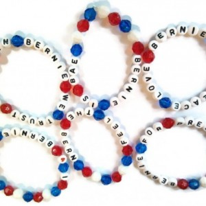 Bernie Sanders Bracelet Set of 3 - Red White and Blue