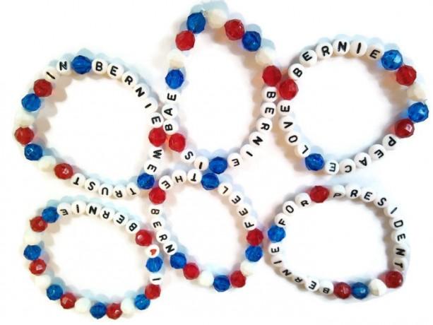 Bernie Sanders Bracelet Set of 3 - Red White and Blue