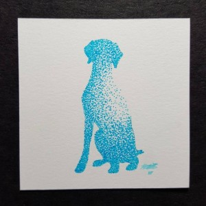 Pointillism Pet Silhouettes
