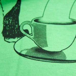 SALE Dapper Red Fox Gentleman Screen Printed T-Shirt, Grass Green, Unisex, Men, Women, Made in USA, Last Ones