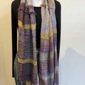 Handwoven Wool and Cotton Scarf