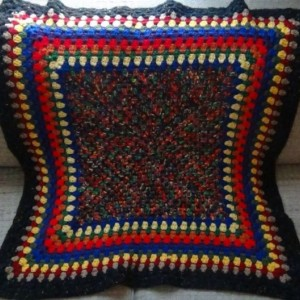 Throw Blanket - Crochet Lapghan - Kaleidoscope - OOAK