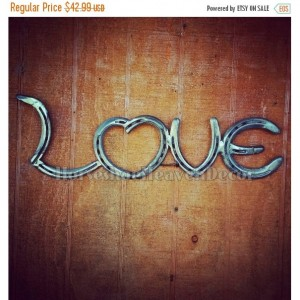Horseshoe love decor- love art- Rustic Horseshoe decor- country wedding decor- barn wedding decor- country home decor - personalized decor