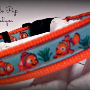 Dog Collar - Adjustable Dog Collar - Large Dog Collar - Medium Dog Collar - Goldfish Dog Collar- Goldfish- Orange Nylon Collar- Koi Collar