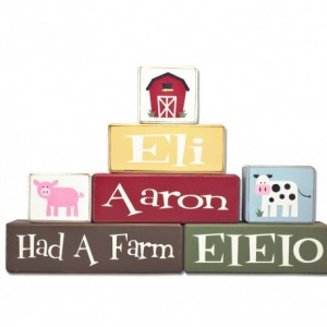 Farm Nursery  - personalized - Nursery - wood sign