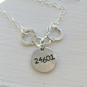 "Les Miserables ""24601"" Handcuffs Necklace"