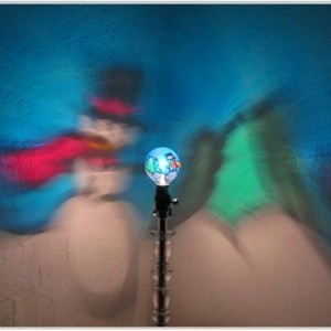 Hand-Painted Frosty the Snowman Mood-Light Bulb