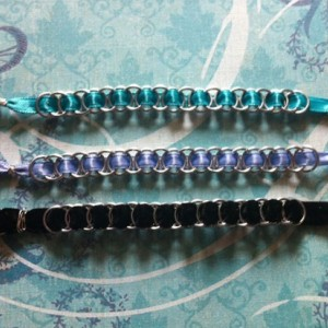 Chainmaille & Ribbon Bracelet