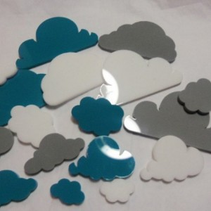 cloud charms,laser cut clouds,weather charms,laser cut charms,