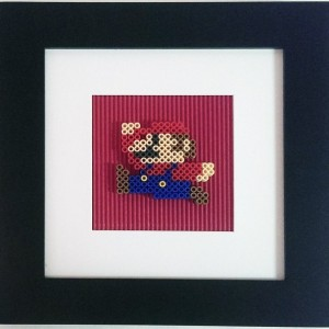 NES Running Mario Framed Wall Art
