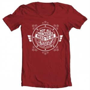 "Girls' Wonder Woman ""Not All Princesses"" Tee"