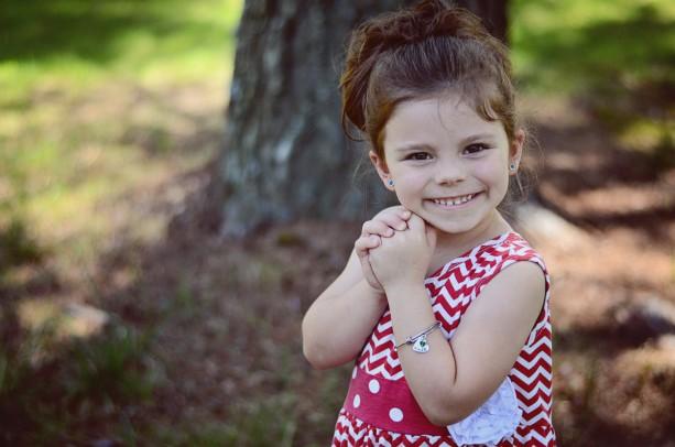 Hand Stamped Child Bracelet - Child Heart Bracelet - Hand Stamped Jewelry - Hand Stamped Bracelet - Little Girls Bracelet - Boutique Child