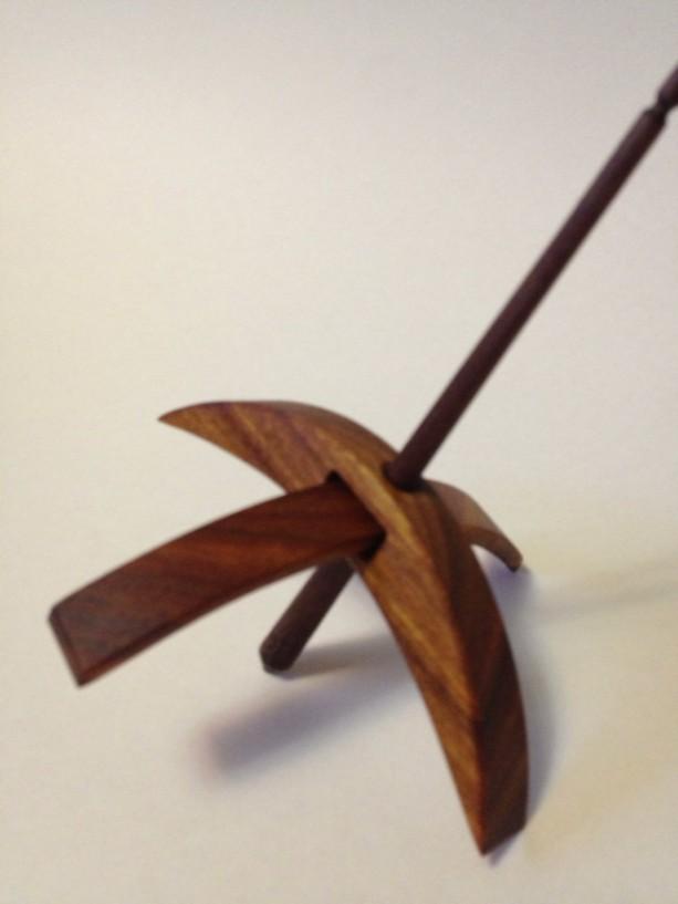 Turkish Drop Spindle medium Canary Wood