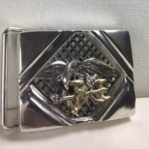 Seal Team six Gents Belt buckle sterling silver