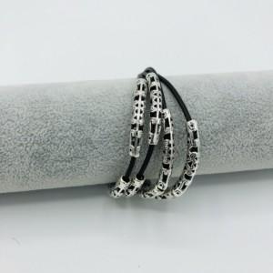 """7 1/2+"""" Unisex Leather Bracelet"""
